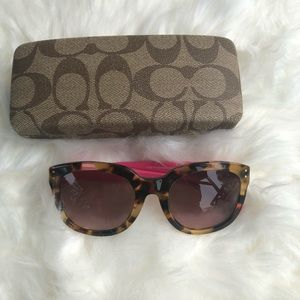 Coach sunglasses with Cheetah Print
